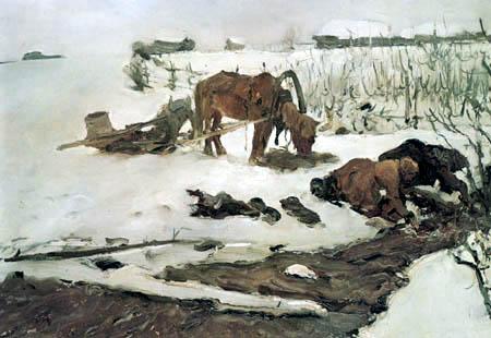 Valentin Alexandrowitsch Serow - Wäschespülen im Winter