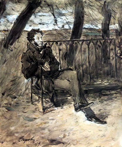 Valentin Alexandrowitsch Serow - Bildnis Alexander Puschkin