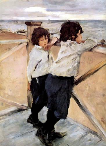 Valentin Alexandrowitsch Serow - Kinder am Strand