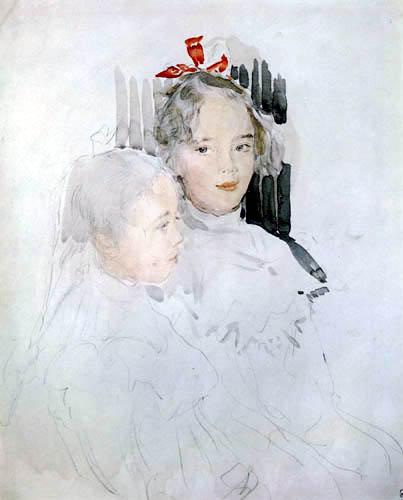 Valentin Alexandrowitsch Serow - Die Töchter von Sergei Botkins