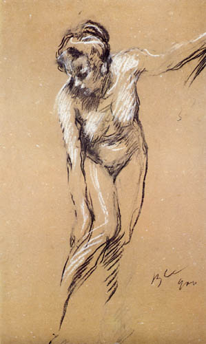 Valentin Alexandrowitsch Serow - Nude, study