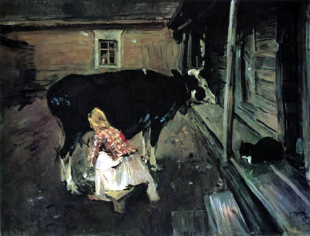 Valentin Alexandrowitsch Serow - Beim Melken