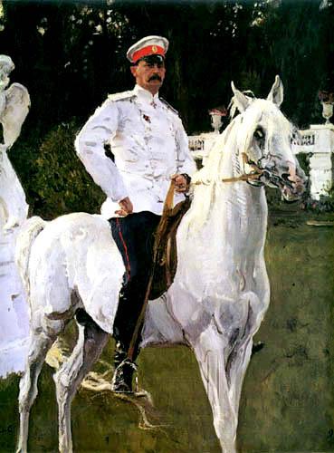 Valentin Alexandrowitsch Serow - Der Fürst Felix Jussupow zu Pferde