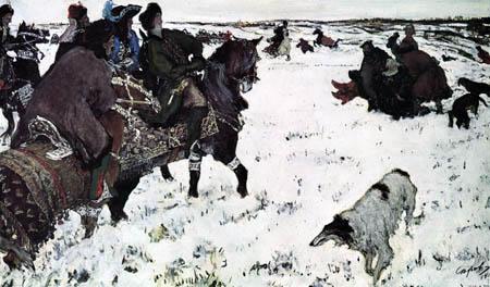 Valentin Alexandrowitsch Serow - Peter I. auf der Treibjagd