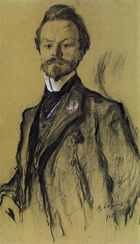 Valentin Alexandrowitsch Serow - Der Dichter Konstantin Balmont