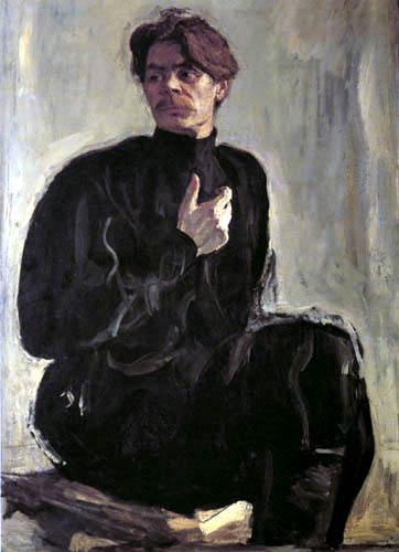 Valentin Alexandrowitsch Serow - Portrait of Maxim Gorky