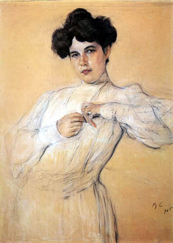 Valentin Alexandrowitsch Serow - Bildnis Maria Botkina
