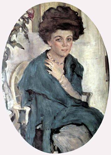 Valentin Alexandrowitsch Serow - Bildnis Jelena Oliva