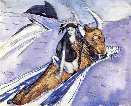 Valentin Alexandrowitsch Serow - Skizze zu Raub der Europa