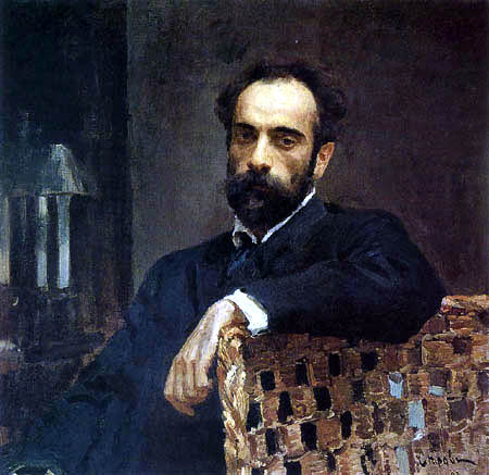 Valentin Alexandrowitsch Serow - Portait of Isaac Levitan