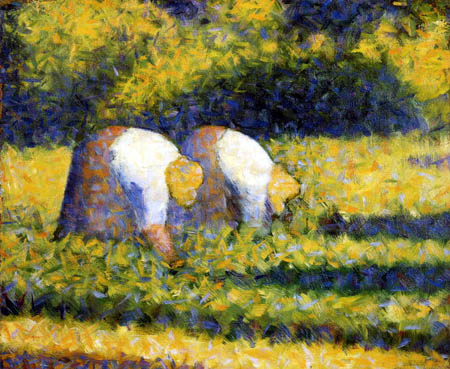 Georges-Pierre Seurat - Farmers wifes working