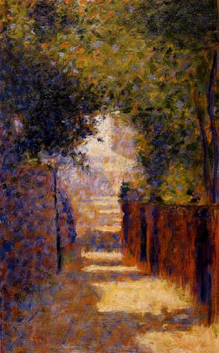 Georges-Pierre Seurat - Rue Saint-Vincent, Montmartre