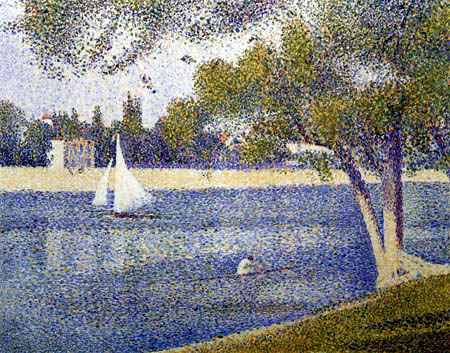 Georges-Pierre Seurat - The Seine to the Grande Jatte