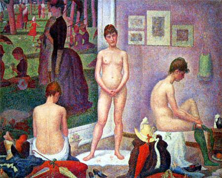 Georges-Pierre Seurat - Modelle beim anziehen