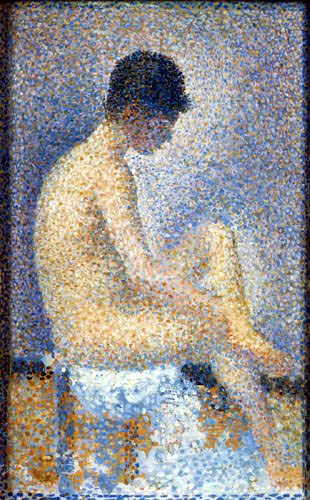 Georges-Pierre Seurat - Sitzendes Modell