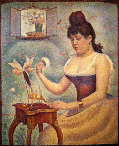 Georges-Pierre Seurat - Young Woman Powdering Herself