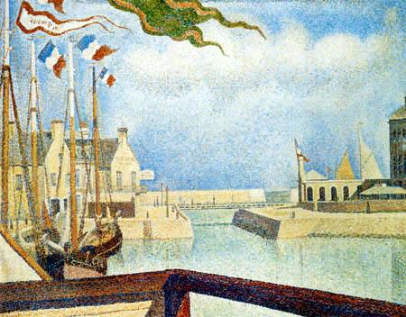 Georges-Pierre Seurat - Festive day in Port-en-Bessin