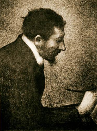 Georges-Pierre Seurat - Porträt Edmond François Aman-Jean