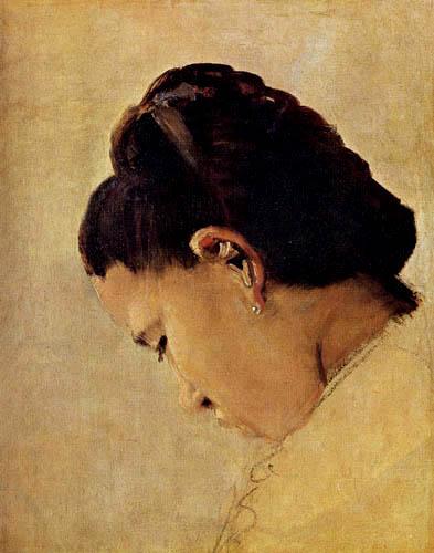 Georges-Pierre Seurat - Kopf eines Mädchens