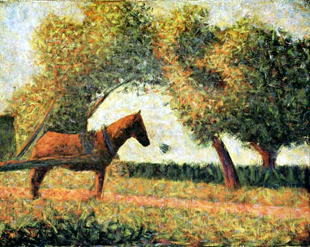 Georges-Pierre Seurat - Horse in a landscape