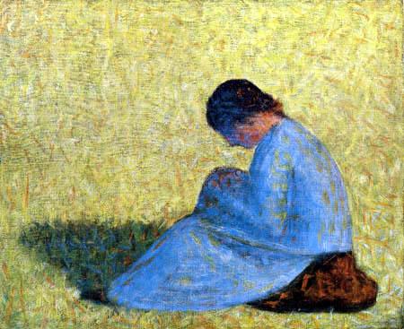 Georges-Pierre Seurat - Sitting woman