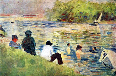 Georges-Pierre Seurat - Ashore of Seine
