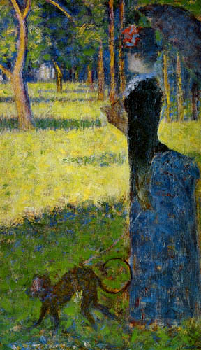 Georges-Pierre Seurat - Woman with a monkey