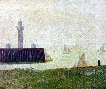 Georges-Pierre Seurat - Phare à Honfleur