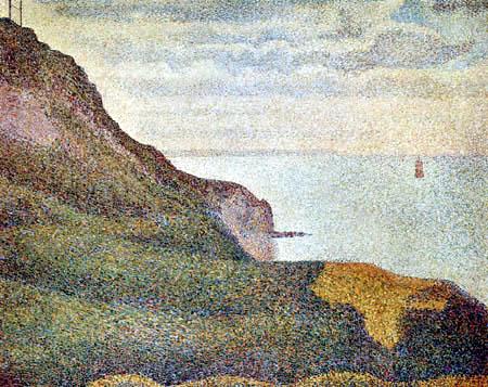 Georges-Pierre Seurat - Steilküste bei Port-en-Bessin