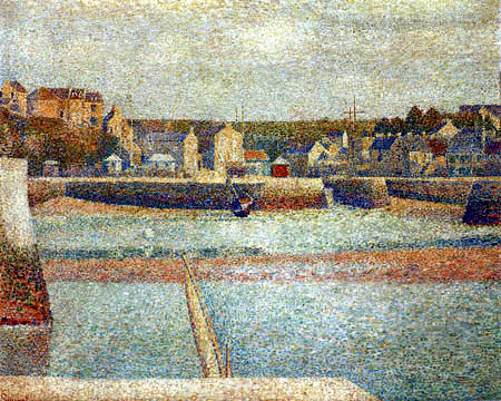 Georges-Pierre Seurat - Ebbe im Außenhafen, Port-en-Bessin