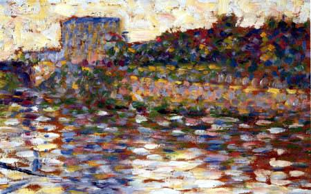Georges-Pierre Seurat - Die Seine bei Courbevoie