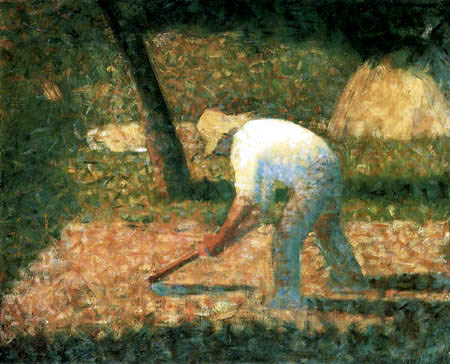 Georges-Pierre Seurat - Peasant working