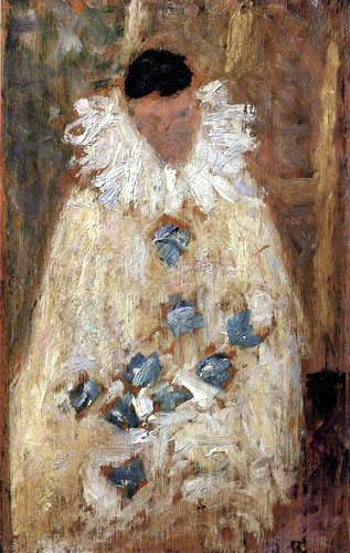 Georges-Pierre Seurat - The Painter Aman-Jean als Pierrot