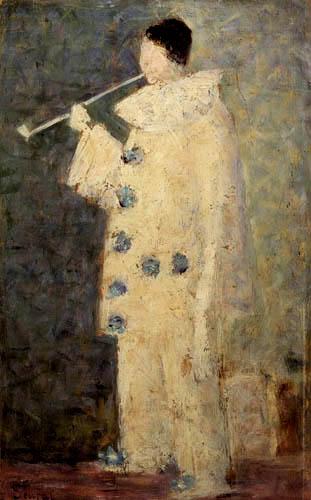 Georges-Pierre Seurat - Pierrot mit weißer Pfeife