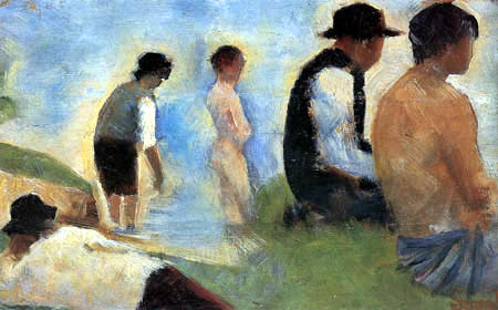 Georges-Pierre Seurat - Five Men, Study