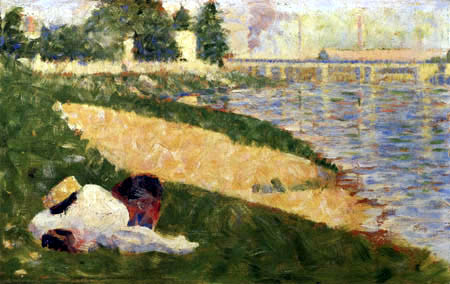 Georges-Pierre Seurat - Clothes on the Seine river
