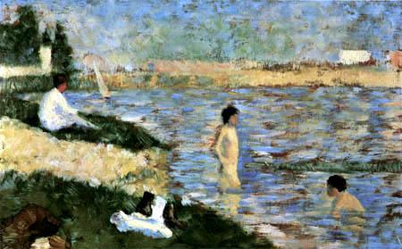 Georges-Pierre Seurat - Bathing boys