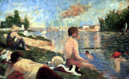 Georges-Pierre Seurat - Bathers near Asnières, Study