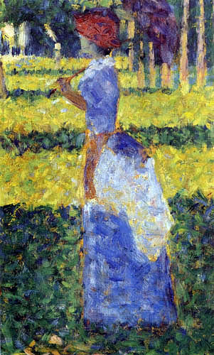 Georges-Pierre Seurat - Lady with sun screen