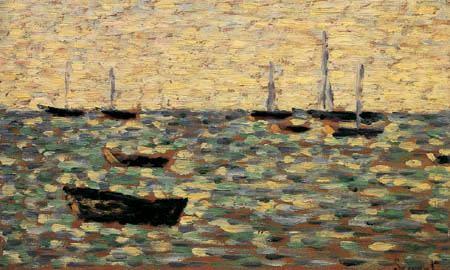Georges-Pierre Seurat - Boats on high tide, Grandcamps