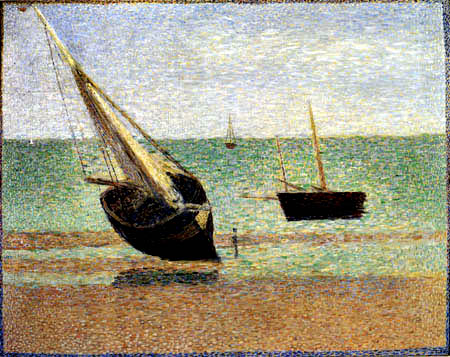 Georges-Pierre Seurat - Boats near Etretat