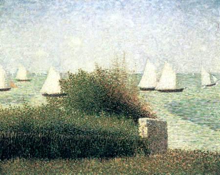 Georges-Pierre Seurat - Sailing vessels, Grandcamp