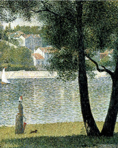 Georges-Pierre Seurat - The Seine near Courbevoie