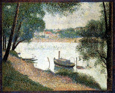 Georges-Pierre Seurat - A grey day, 'La Grande Jatte'