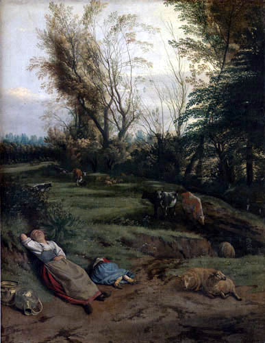 Jan Siberechts - Pasture with Sleeping Woman