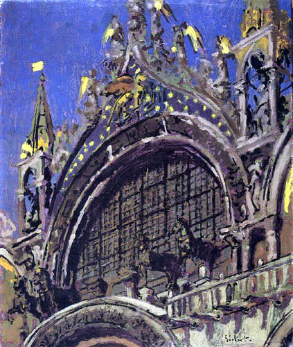 Walter Richard Sickert - The Horses of St Mark´s, Venice