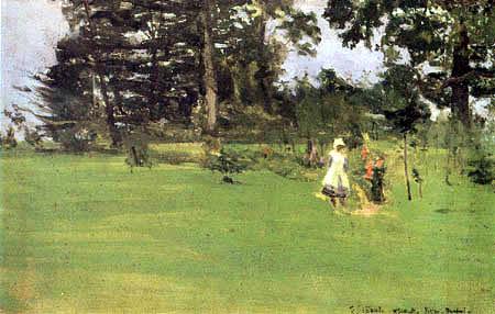 Walter Richard Sickert - Figures on a Lawn, Poston