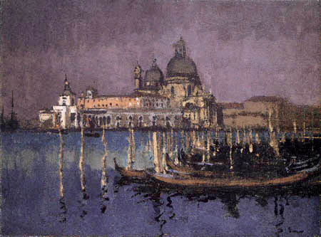 Walter Richard Sickert - Nocturne, The Dogana and Santa Maria della Salute