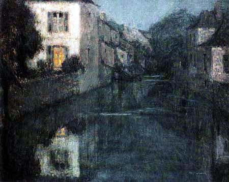 Henri Le Sidaner - Twilight in Nemours