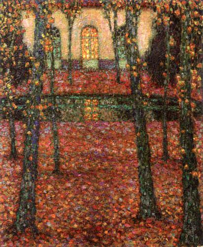 Henri Le Sidaner - Bassin de Trianon in Autumn